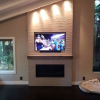TV wall mount over Fireplace